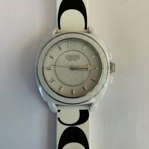 Coach Silicone White Monogram Watch